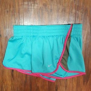 Nike Dri-fit Athletic Shorts w/lining, Turquoise,S
